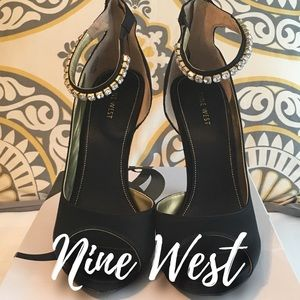 Nine West Justskippy Peep Toe Heels